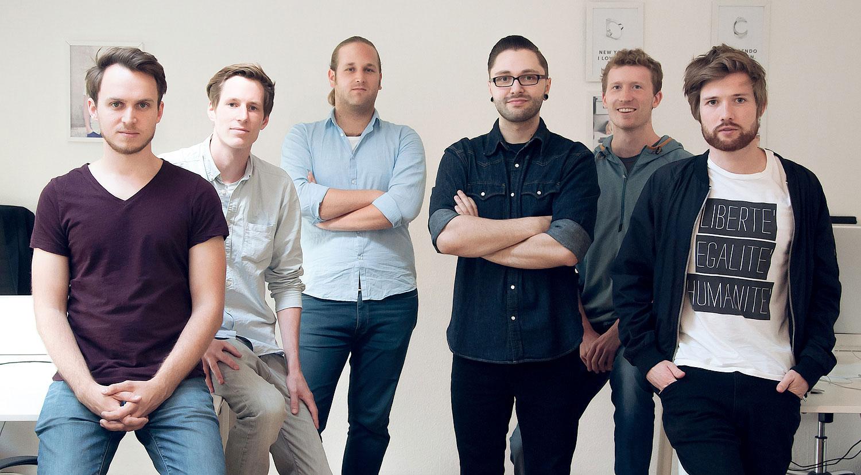 Die Gründer von Stilnest: Julian Leitloff, Raoul Schäkermann, Michael Aigner, Florian Krebs, Mike Schäkermann, Tim Bibow